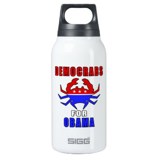 Democrabs For Obama Insulated Water Bottle