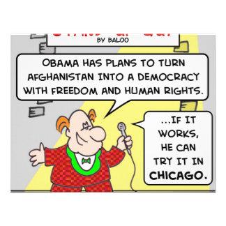 Democracia Afganistán Chicago de SUG obama Invitación Personalizada