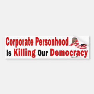Democracia corporativa de la matanza del Personhoo Pegatina Para Auto