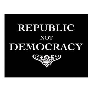 Democracia de la república no postal