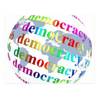 Democracia global tarjeta postal