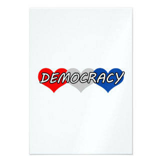 Democracia Invitaciones Personales