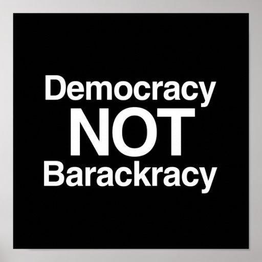DEMOCRACIA NO BARACKRACY PÓSTER