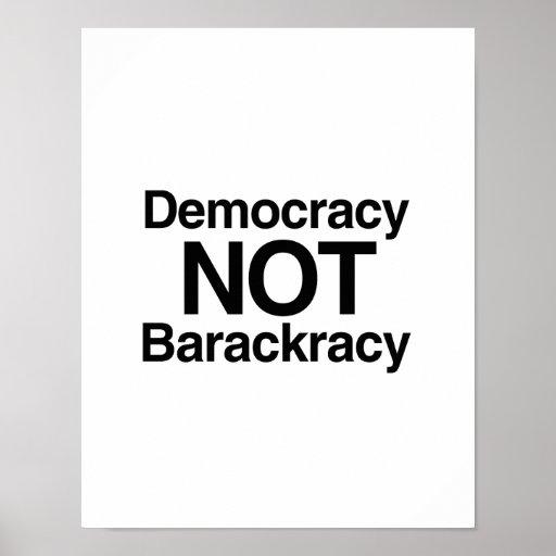 DEMOCRACIA NO BARACKRACY POSTER