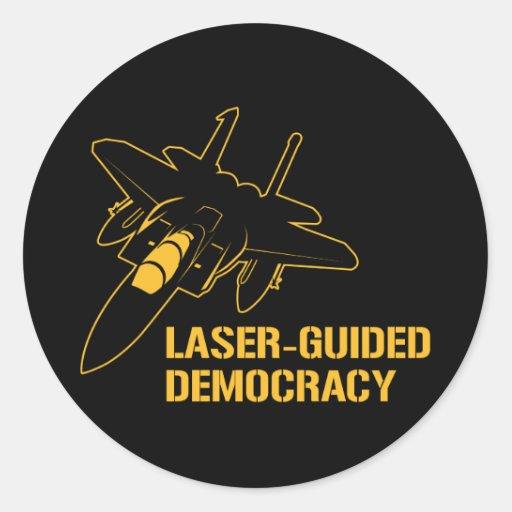 Democracia/paz dirigidas por laser con potencia de etiqueta