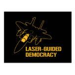 Democracia/paz dirigidas por laser con potencia de postales