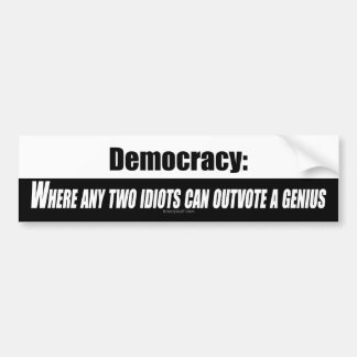 Democracia Pegatina Para Auto