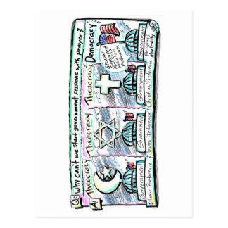 Democracia sobre la teocracia tarjetas postales