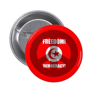 democracia Túnez de la libertad Pin Redondo 5 Cm