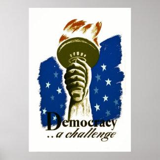 Democracia. Un desafío - poster de WPA -
