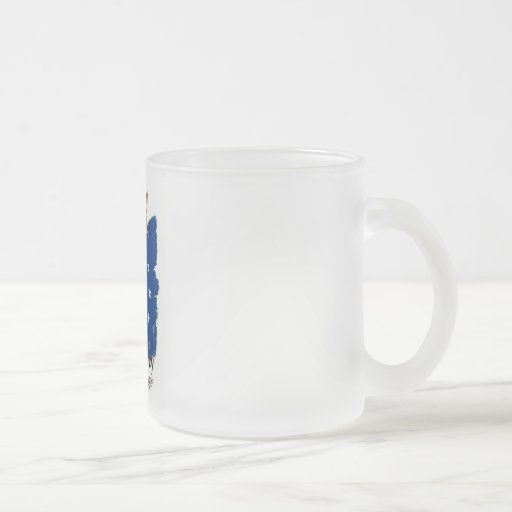 Democracy .. A Challenge - WPA Poster - Frosted Glass Coffee Mug