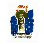 Democracy .. A Challenge - WPA Poster - Postcard