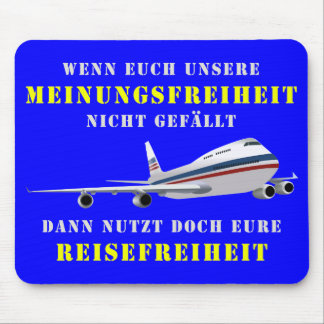 Democracy and liberty of opinion mouse pad