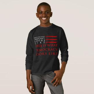 Democracy Boy's Dark Long Sleeve T-Shirt