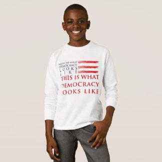 Democracy Boy's Long Sleeve T-Shirt