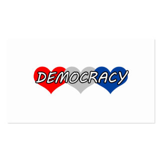 Democracy Double-Sided Standard Business Cards (Pack Of 100)