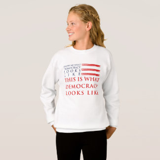 Democracy Girl's Sweatshirt