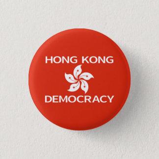 Democracy Hong Kong Orchid Flag Button