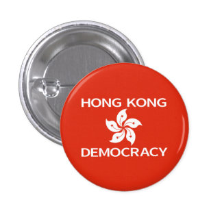 Democracy Hong Kong Orchid Flag Buttons
