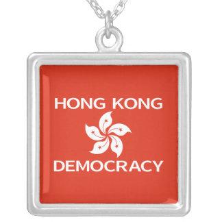 Democracy Hong Kong Orchid Flag Necklaces