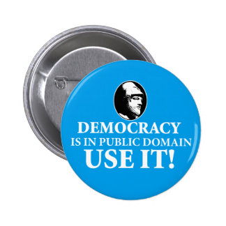 Democracy is PD, Use It Pinback Button
