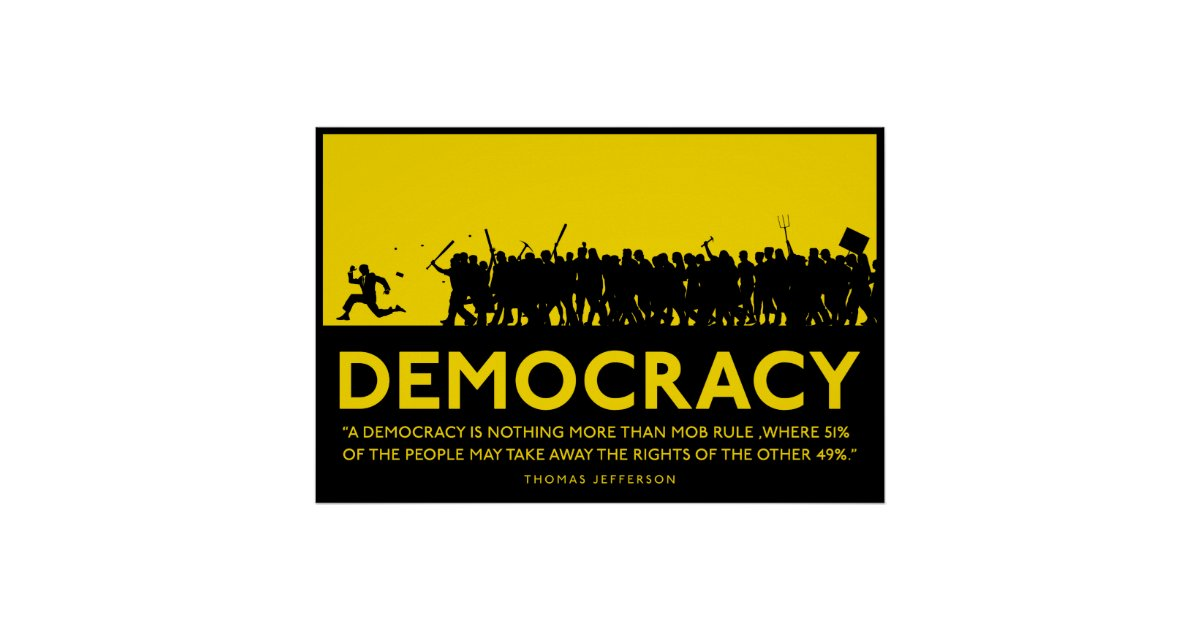 Democracy Poster Zazzle Com