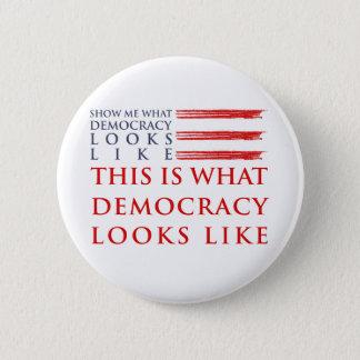Democracy Round Button