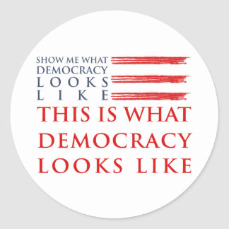 Democracy Sticker