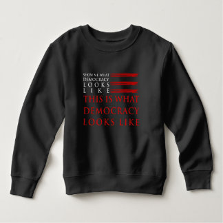Democracy Toddler Dark Sweatshirt