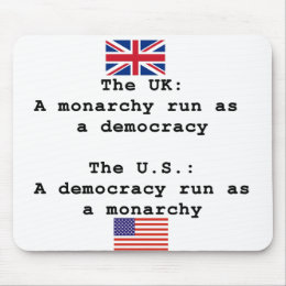 Democracy vs Monarchy Mouse Pad