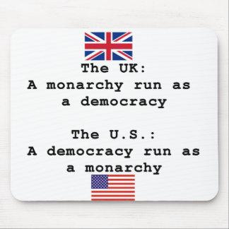 Democracy vs Monarchy Mouse Pad