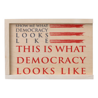 Democracy Wooden Keepsake Box