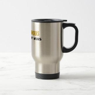 DEMOCRACY WORKS, PROSPERITY WINS ,... - Customized 15 Oz Stainless Steel Travel Mug