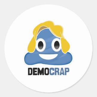 DEMOCRAP EMOJI - - PEGATINA REDONDA