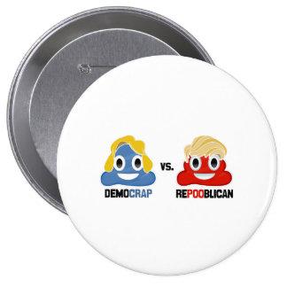 Democrap versus Repooblican - Pinback Button