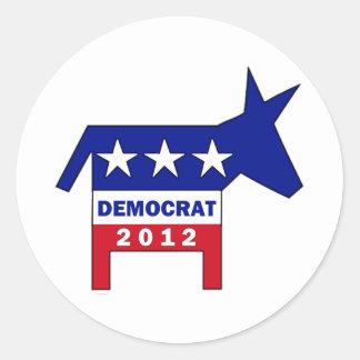 DEMOCRAT 2012 CLASSIC ROUND STICKER