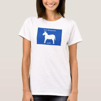 Democrat 2016 Donkey Symbol Blue White Custom T-Shirt