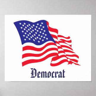 Democrat American Flag Poster