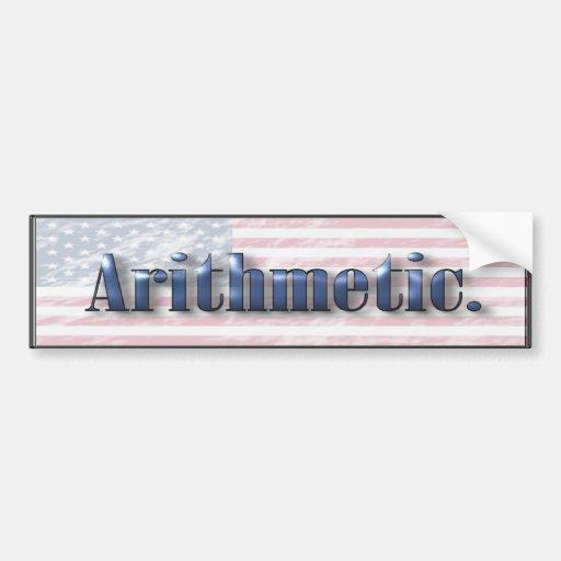 Democrat Arithmetic Bumper Sticker Car Bumper Sticker
