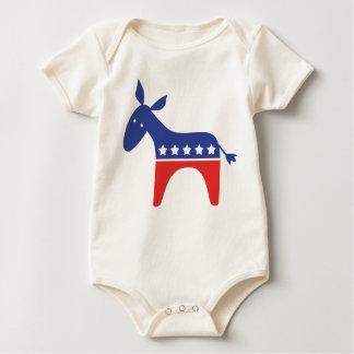 Democrat Baby Donkey Baby Bodysuit