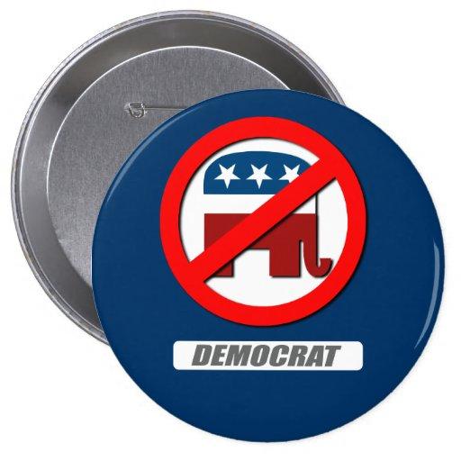 DEMOCRAT BLOCK PINBACK BUTTON