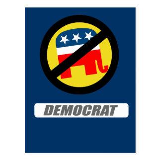 DEMOCRAT BLOCK POSTCARD
