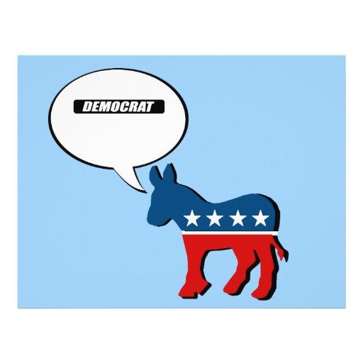 Democrat Block white Flyers
