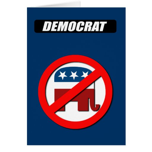 Democrat Block white Greeting Card