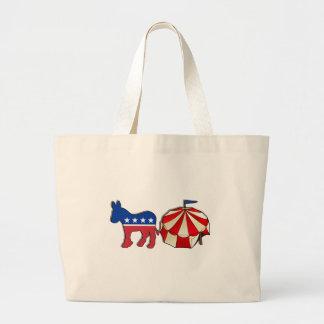 Democrat Circus Donkey Canvas Bag
