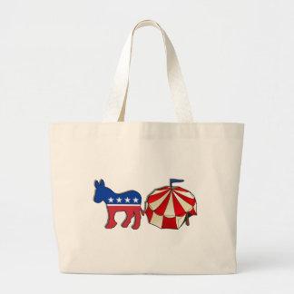 Democrat Circus Donkey Tote Bag