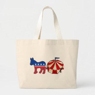 Democrat Circus Donkey Large Tote Bag