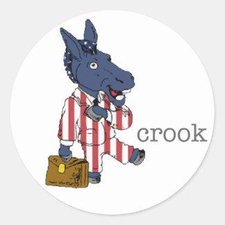 Democrat Crook Sticker