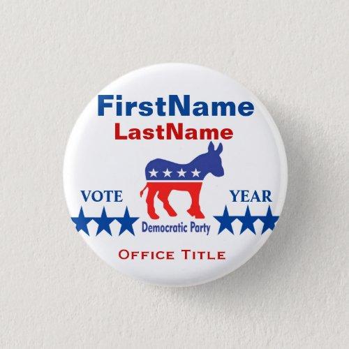 Democrat Custom Campaign Template Button