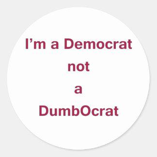 Democrat DADA Classic Round Sticker